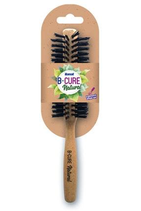 B-Cure Natural 614 Isıya Dayanıklı Uzun Ömürlü Ahşap Fön Fırçası