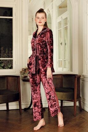 Artış Kadın Mercan Kadife Kimono Eşofman Takım 9215