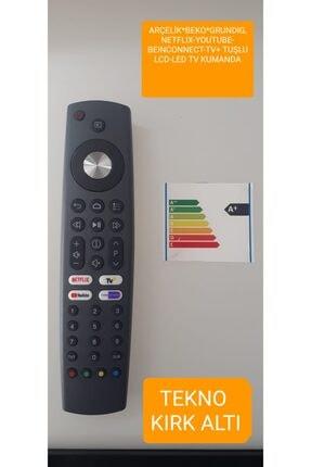 Arçelik *beko*grundıg Ts9187r Rc4353902/01 Netflıx-youtube-beınconnect-tv+ Tuşlu Lcd-led Tv Kumanda