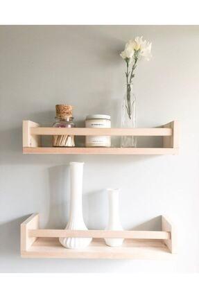 NO:5 Furniture Design Montessori Kitaplık Çocuk Odası Balkon 2 Adet Duvar Rafı Ahşap Kitaplık Raf Çok Amaçlı Raf 30cm