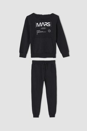 DeFacto Erkek Çocuk Mars Baskılı Sweatshirt Ve Jogger Eşofman Alt Takımı