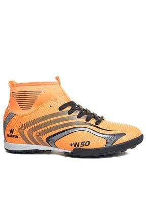 rottenchill Yüksek Bilek Çoraplı Turuncu Halı Saha Ayakkabısı