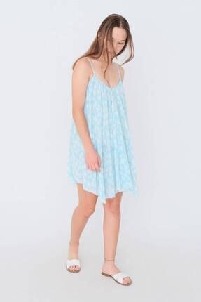 Addax Papatya Desenli Elbise E12421 - K11