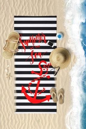 VevienHome Summur Anchor Dijital Baskılı 70x150 Cm Plaj Havlusu