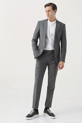 D'S Damat Regular Fit Gri Düz Travel Takım Elbise