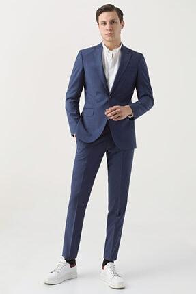D'S Damat Regular Fit Saks Mavi Düz Travel Takım Elbise
