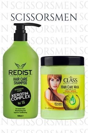 Redist Keratinli Saç Bakım Şampuanı 1000ml + Ac Class Saç Maskesi Keratinli 1000ml
