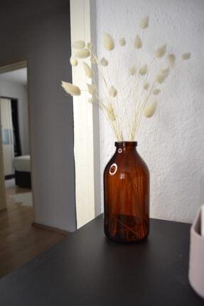 GO BLOBS 250ml Orta Mini Amber Kahverengi Cam Vazo