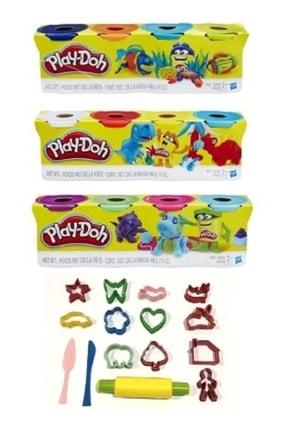 Play Doh 12 Renk Oyun Hamuru Ve 15 Parça Kalıp Seti
