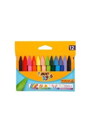 Bic Elleri Kirletmeyen Üçgen Pastel Boya 12'li