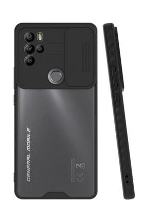 MobilCadde Lens Thin General Mobile Gm 21 Pro Kamera Korumalı Siyah Silikon Uyumlu Kılıf