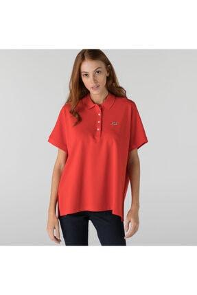 Lacoste Kadın Loose Fit Kırmızı Polo