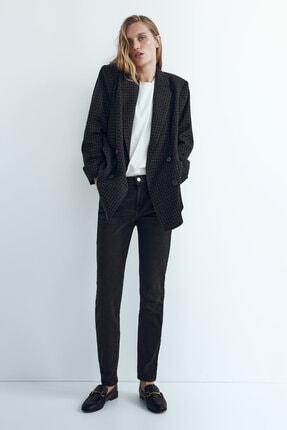 Massimo Dutti Kadın Siyah Orta Bel Skinny Fit Jean 05081729