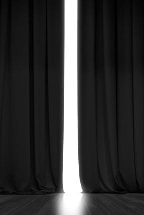 Asper Blackout Işık Geçirmez Fon Perde Siyah Pilesiz Ekstraforlu Karartma Güneşlik  V-11