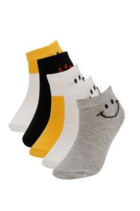 DeFacto Erkek Çocuk Desenli 5'li Patik Çorap