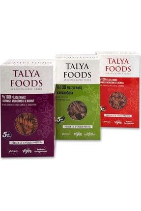 TALYA FOODS Talyafoods Glutensiz & Vegan Filizlenmiş Kırmızı Mercimek & Kinoa ,filizlenmiş Karabuğday 3'lü Set
