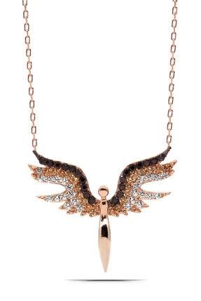 Parmas Design Kadın Mikail Meleği Gümüş Kolye 925 Ayar