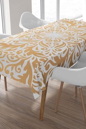 Ysahome Altın Sarısı Mandala Desenli Masa Örtüsü