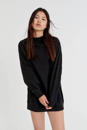 Pull & Bear Uzun Kollu Pamuklu Kumaş Elbise