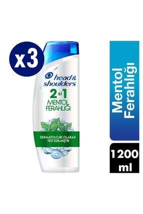 Head&Shoulders 2'si 1 Arada Şampuan Mentol Ferahlığı 400mlx3