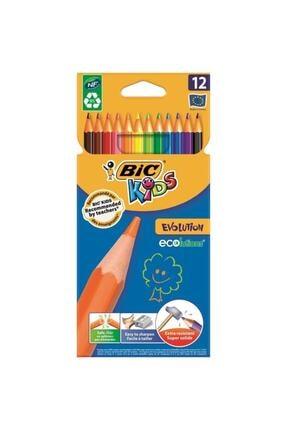 Bic Unisex Çocuk Renkli Kuruboya Evolutıon 12'li 82902910