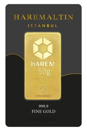 Harem Altın 50 Gr 999.9 Harem Gram Külçe Altın