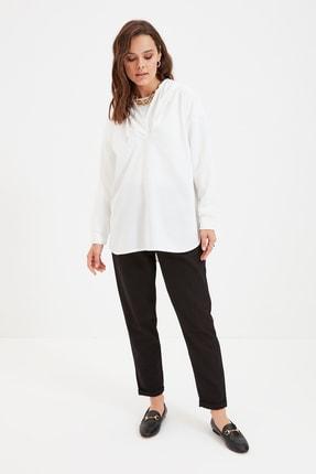 Trendyol Modest Beli Esnek Siyah Pantolon TCTAW22TP0009