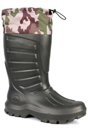 Sonimix Eva Çizme Yeşil Renk Termal Çoraplı 44