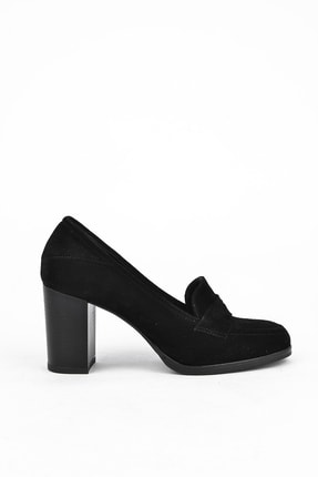 Ziya Kadın Siyah Hakiki Deri Ayakkabı