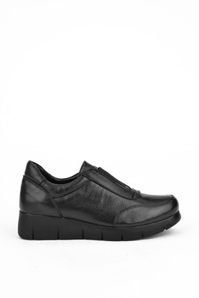 Ziya Kadın Siyah Hakiki Deri Ayakkabı 101353 705