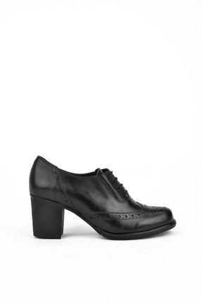 Ziya Kadın Siyah Deri Ayakkabı 10319 4019