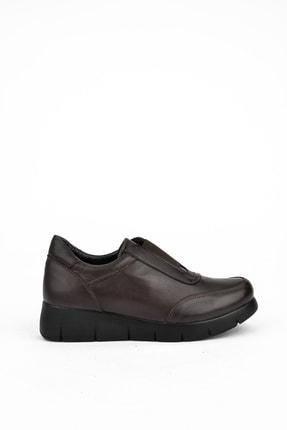 Ziya Kadın Kahverengi Deri Ayakkabı 101353 705