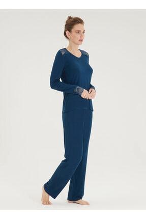 Blackspade Kadın Pijama Takımı 50432 - Mavi