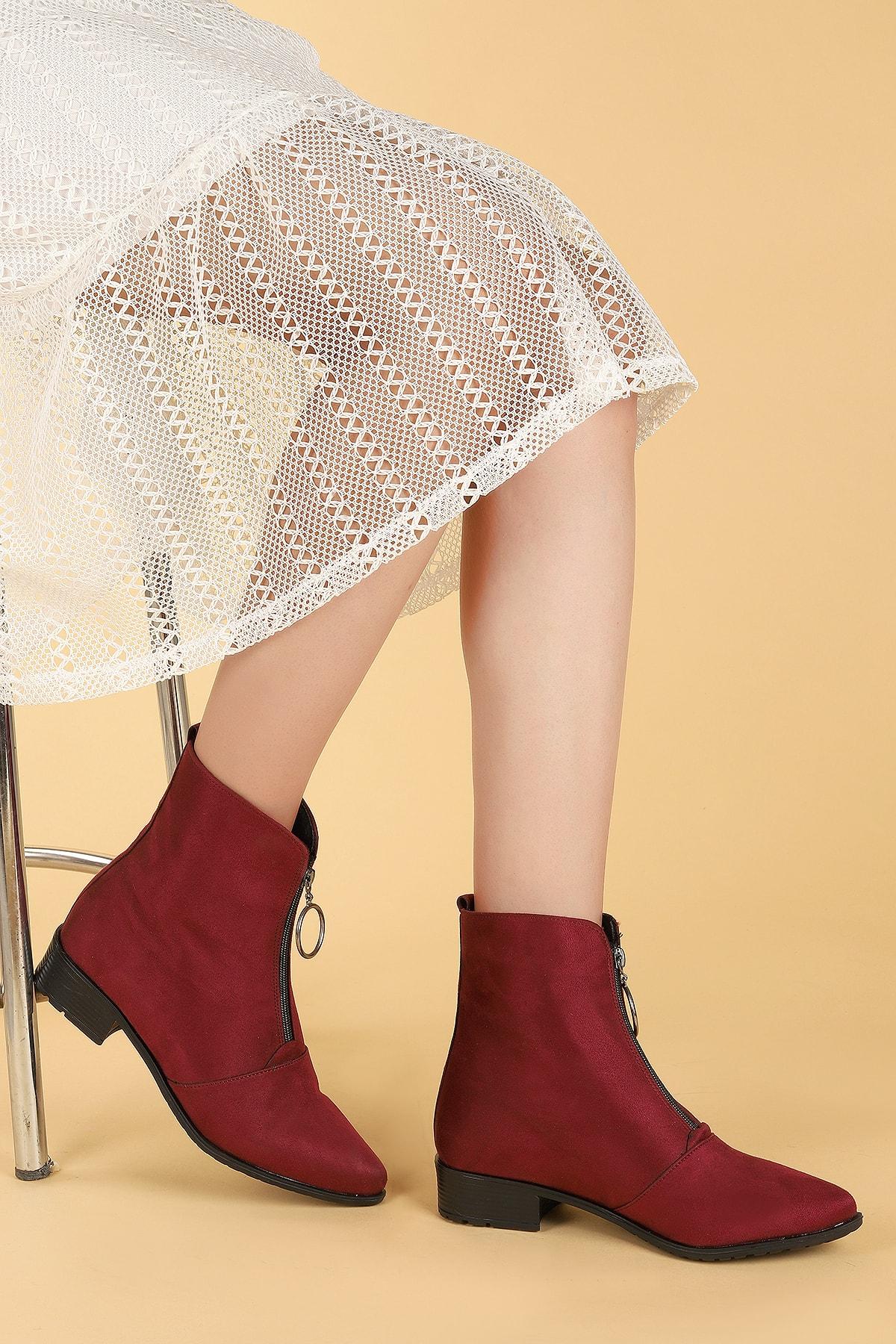Ayakland Kadın Bordo Bot Ayakkabı 2