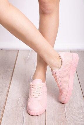 Milanoor Kadın Pembe Bagcıklı Fileli Spor Ayakkabı