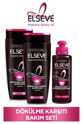 ELSEVE Arginine Direnç X3 Dökülme Karşıtı Şampuan 450ml & Dökülme Karşıtı Güçlendirici Bakım Kremi