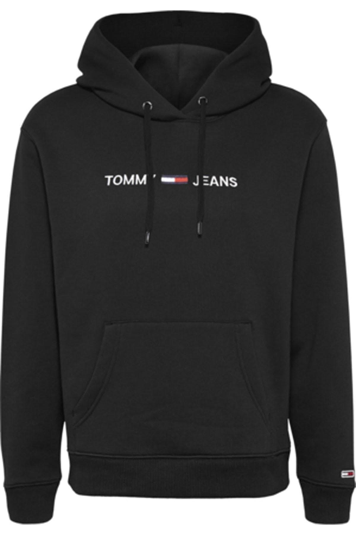 Tommy Hilfiger Kadın Siyah Sweatshirt Tjw Lınear Logo Hoodıe DW0DW08972 1