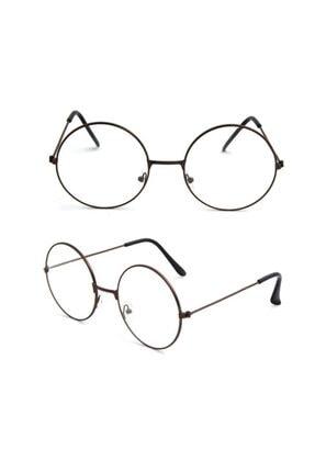 Decassa Unisex Harry Potter Anti Mavi Işınlı  Retro Metal Çerçeve Şeffaf Lens Gözlük