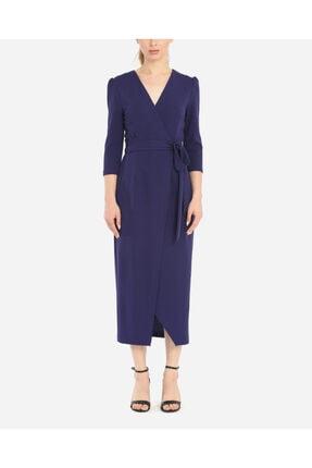 AYHAN Kadın Lavivert Anvelop Form Elbise