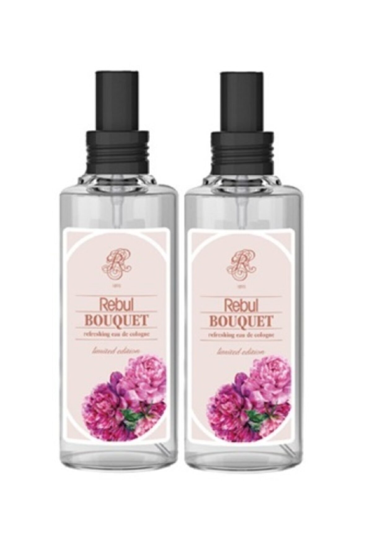 Rebul 2 Adet Bouquet Kolonya 100 Ml Spreyli Cam Şişe Buket Şakayık 100 Ml X2 1