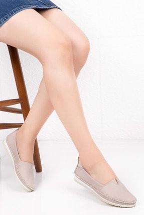 Gondol Kadın Bej Hakiki Deri Anatomik Taban Günlük Ayakkabı 40 Grs.20