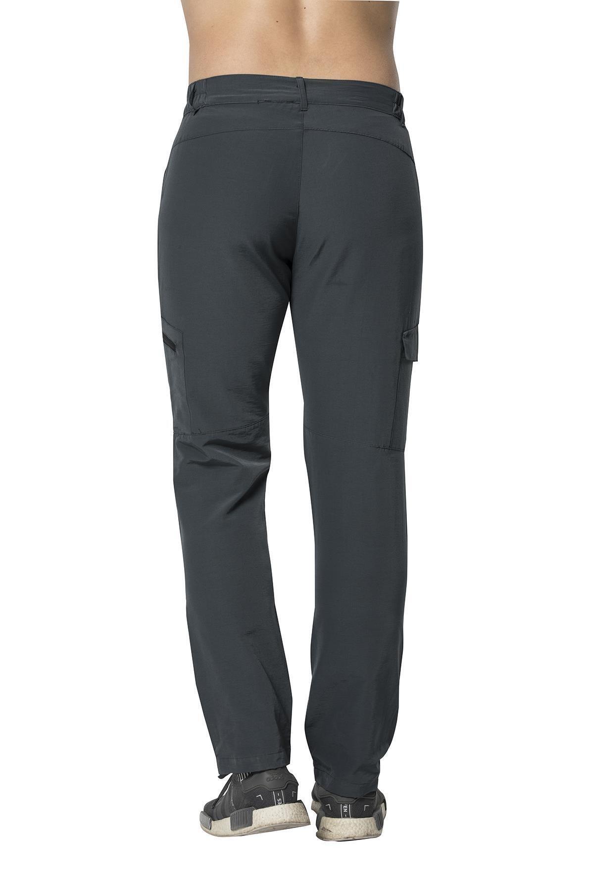 Crozwise Erkek Siyah Pamuk Polyester Outdoor Pantolon 2