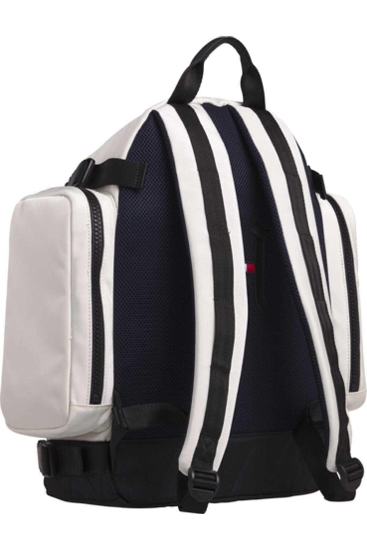 Tommy Hilfiger Erkek Beyaz Lh Nylon Backpack 2