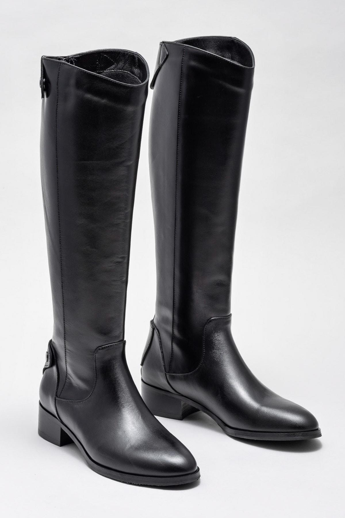Elle Shoes Kadın Kestrel Sıyah Çizme 20K053 2