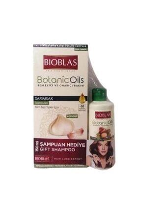 Bioblas Yıpranan Ve Çabuk Kırılan Mat Ve Cansız Saçlar Için Sarımsaklı Şampuan Ve Argan Yağlı