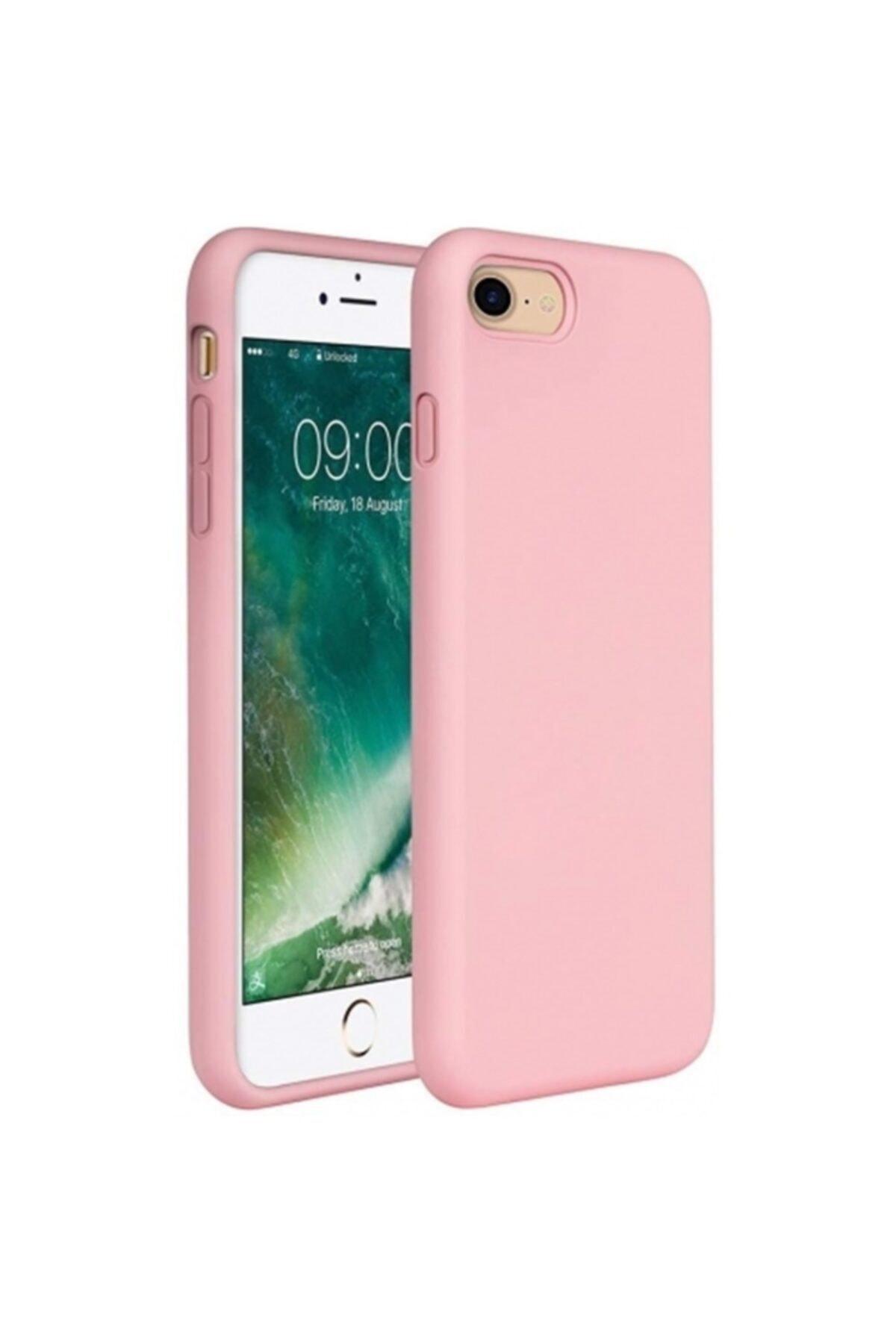 Zengin Çarşım Apple iPhone 7 - 8 - SE 2020 İçi Kadife Lansman Silikon Kılıf Pembe 1