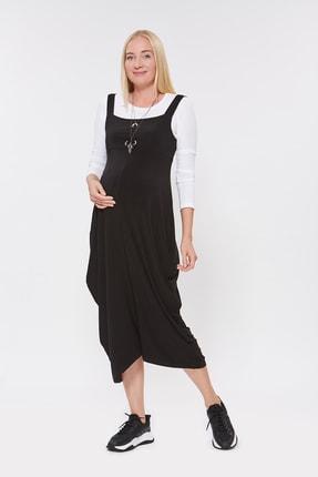 Motherway Kadın Siyah Hamile Şalvar Elbise