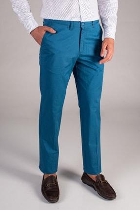 Dufy Petrol Düz Sık Dokuma Erkek Pantolon - Regular Fıt
