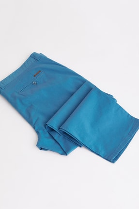 Dufy Açık Petrol Büyük Beden Düz Sık Dokuma Erkek Pantolon - Battal