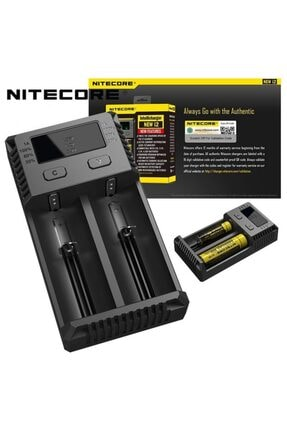 Nitecore New I2 / I2 Li-ion Nı-cd Nı-mh 18650 Pil Şarj Aleti